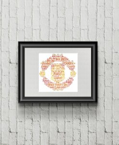 Personalised Manchester Utd Word Art