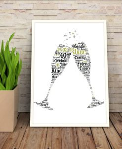Personalised Champagne Flutes Print
