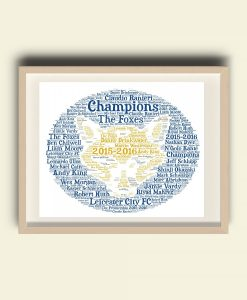 Personalised Leicester City Football Club Word Art