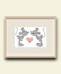 Personalised Mickey & Minnie Print