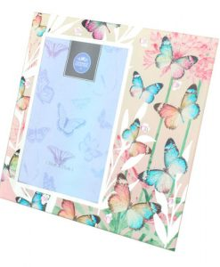 Pink Mirror Butterfly Frame