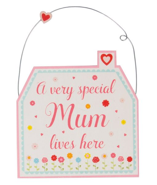 A VERY SPECIAL MUM LIVES HERE HOUSE MINI PLAQUE