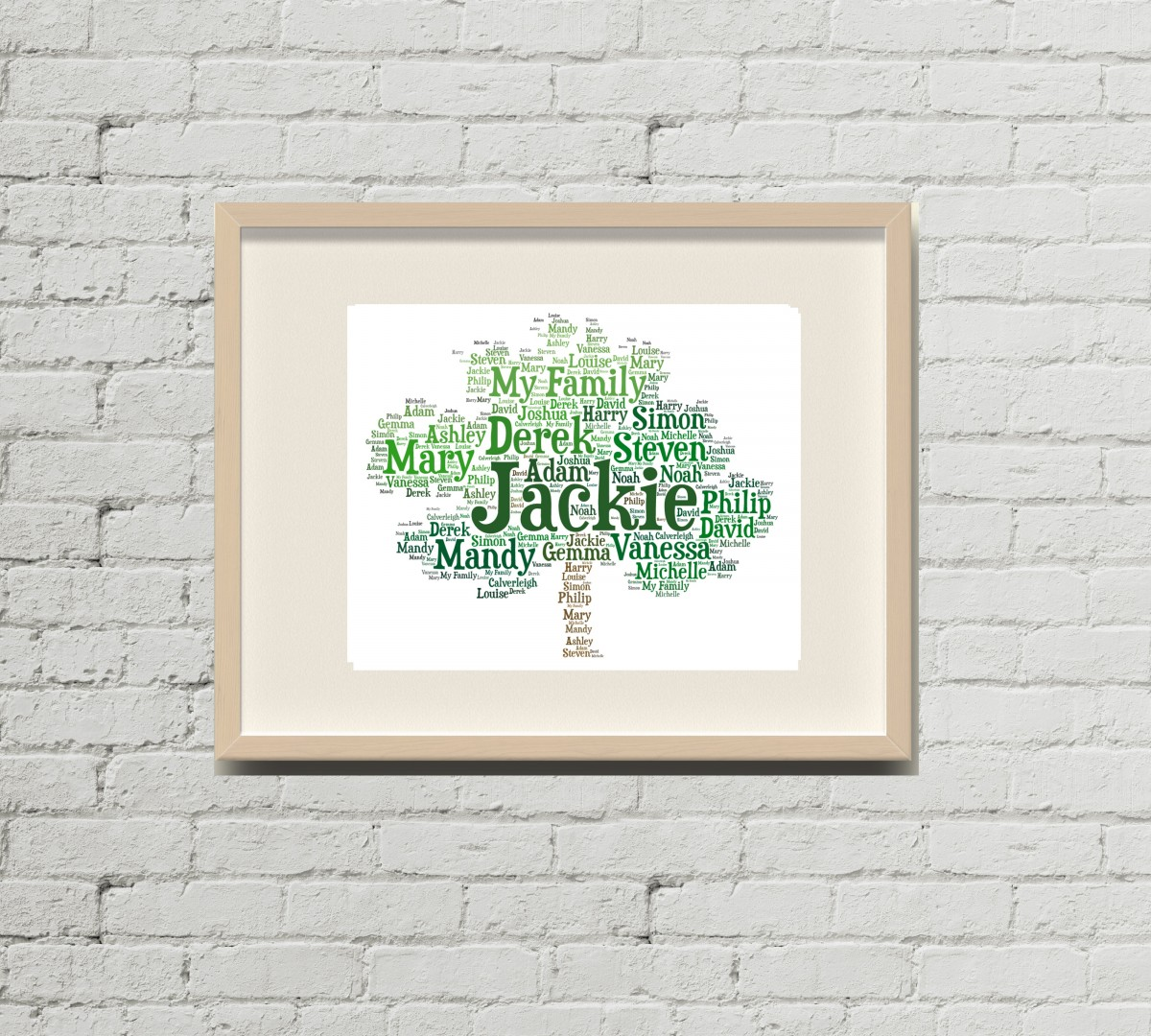 Personalised Family Tree Word Art Bought With Thought