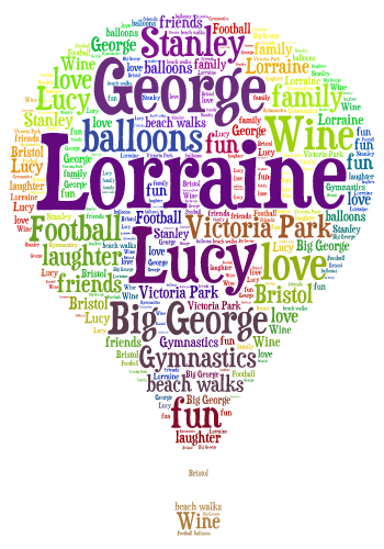 Family Tree Football Shirts Personalised Word Art Print Gift Present Bespoke A4