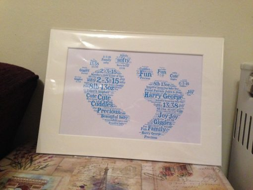 Personalised word art bought with thought personalised baby feet word art gumiabroncs Images