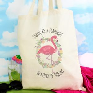 dc8ab8fb57 Personalised Flamingo Cotton Bag ...