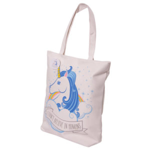 b47ab5bd08 Unicorn Zip Up Shopping Bag Unicorn Zip Up Shopping Bag